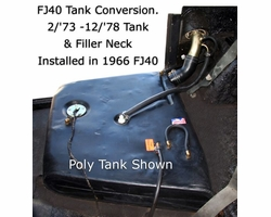 FJ40 Tank Conversion - Late Model Tank fited to Early Model FJ40