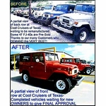 FJ40s - Before and After Restoration Line-Up