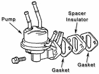 Fuel Pump & Spacer Insulator Assy - Print
