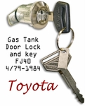 Gas Tank Door Lock & Key  79-1984 FJ40 - TOYOTA