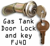 Gas Tank Door Lock & Key FJ40 & Other Series, Aftermarket