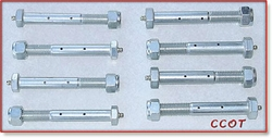 "Greasable Shackle Bolts -  58-7/80 -  5/8"" Bolts"