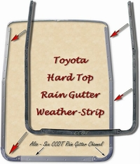 Hard Top Weather Strip - Rain Gutter 64-84 FJ40/BJ40 TOYOTA
