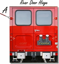 "Hinge Rear Door - Ambulance - ""A"" 1 ea. - 1/75-'84 - TOYOTA"