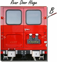 "Hinge Rear Door - Ambulance - ""B"" 1 ea. - 1/75-'84 - TOYOTA"