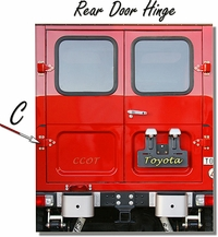 "Hinge Rear Door - Ambulance - ""C"" 1 ea. - 1/75-'84 - TOYOTA"