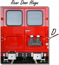 "Hinge Rear Door - Ambulance - ""D"" 1 ea. - 1/75-'84 - TOYOTA"