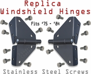 Hinge - Windshield - Pair w/screws - ?5 - '84