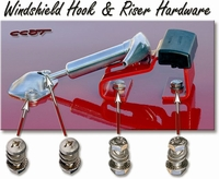 Hood Hook & Windshield Brkt - Bolt & Screw Kit - Stainless