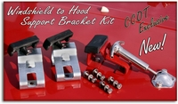 Hood Windshield Support  Bracket - Kit