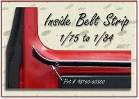 Inside Belt Weatherstripping - 1/'75-'84 - TOYOTA
