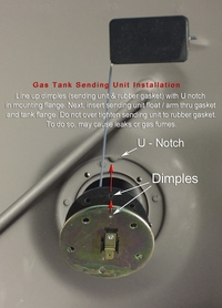 Installation - Gas Tank Sending Unit