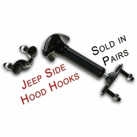 Jeep Hood Latch Kit w/Hrdwr - Pair