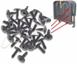 Jump Seat Frame Upholstery Screws - BLACK