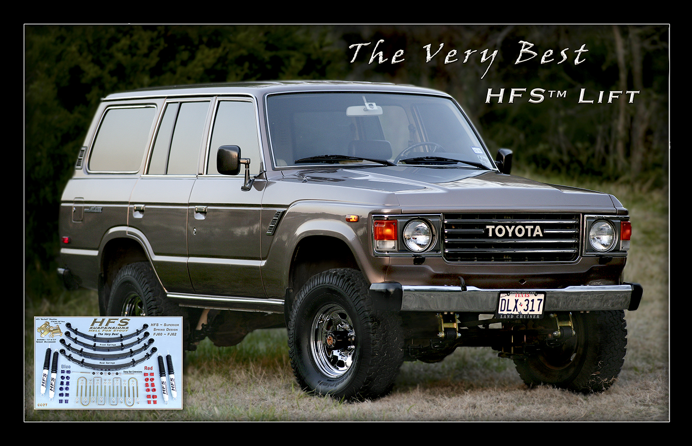 Hfs 25 Lift On 33 Tires Toyota Kits Kit Fj60 62