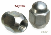 Lug Nut -  5/'83 to 1/'90 - Chrome - TOYOTA