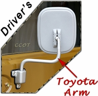 Mirror Arm - Driver's Side - 1ea -  FJ40 77-84-  TOYOTA