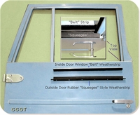"""Outside """"Squeegee""""  Weatherstrip - '63-12/'74 - TOYOTA"""
