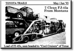 Pic / Info...FJ-45 Pickups, 7 ea. from Montana, Toyota Trails 1993