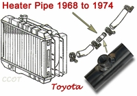 Pipe - Heater - Radiator -  1968-1974 - TOYOTA