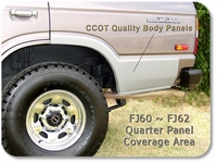 Quarter Panel Patch - FJ60 FJ62 - Drivers side