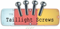 Screws - Taillight Lens - 4 ea. - Series 40