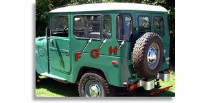 """Seal, Rear Corner Glass Rubber, Drivers Side,, """"H"""", 7/71-84 ~ TOYOTA"""