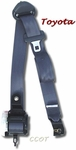 Seat Belt Shoulder Harness -  Front - Passngr's - 10/82-1/90 - Gray - TOYOTA