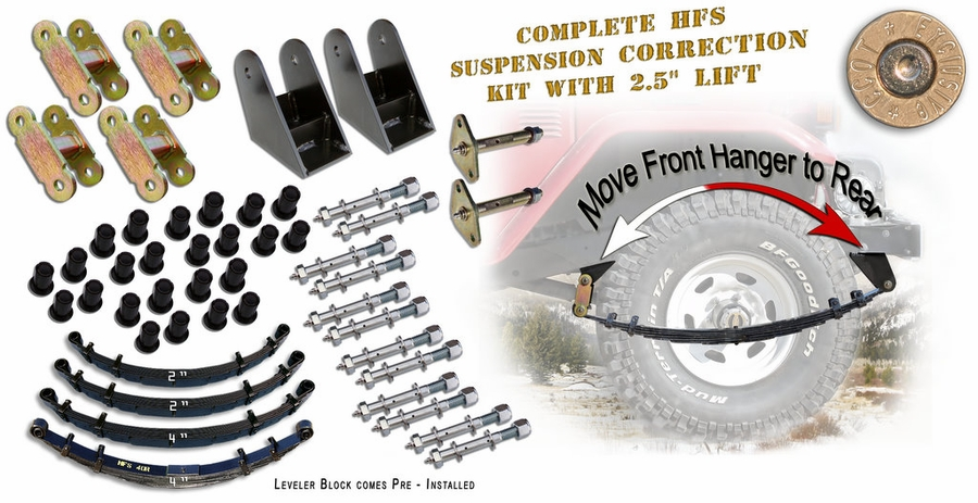 "Shackle Reversal & 4"" HFS Lift Combo"" title=""Shackle Reversal & 4"" HFS Lift Combo"