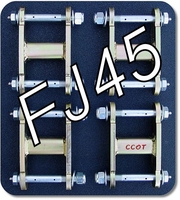 "Shackles - HFS?- FJ45 - '58-7/'80 - Set 4ea - 2-1/2"" - 15mm & 18mm Grease Bolts"