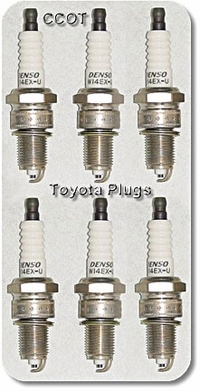 Spark Plugs ~ 1968 to 08/'87 ~ Set of 6 ~ TOYOTA