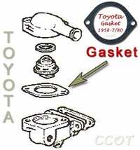 Thermostat Gasket - Lower -  '58-7/'80 ~ TOYOTA