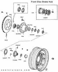 Toyota Drawing - Front Axel Hub - Disc Brakes