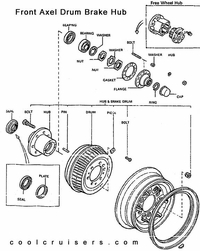 Toyota Drawing - Front Axel Hub - Drum Brakes