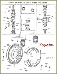 TOYOTA Drawing Front Brake Assy.