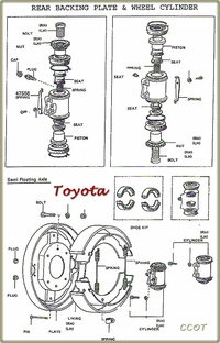 TOYOTA Drawing Rear  Brake Assy.