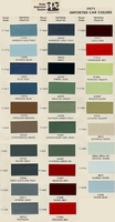 Toyota PPG Color Code Book Sheets - 1971