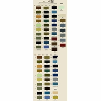 Toyota PPG Color Code Book Sheets - 1973