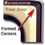 "Weatherstrip -  Driver's Rear Ambulance Door - 75-84 - ""CCOT"""