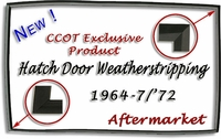 "Weatherstrip - Hatch Door - ""D"" -  '64-1/75 -  Aft Mrkt"