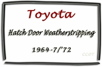 "Weatherstrip -  Hatch Door - ""D"" - FJ40 64-7/72 - TOYOTA"