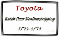 "Weatherstrip - Hatch Door - ""D"" - FJ40 7/72-1/75 - TOYOTA"