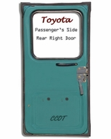 "Weatherstrip - Passengr's Rear Ambulance Door - 79-10/'84 - ""TOYOTA"""
