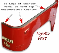 Weatherstripping Hard Top Ridge to Body Tub -  TOYOTA