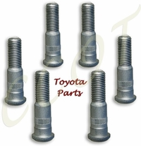 Wheel Studs - 6 ea -  8/'80 to '90 - TOYOTA
