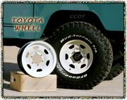 Wheels - Set of 5 ea -  FJ40 - 8/80-10/84 - Off White - TOYOTA