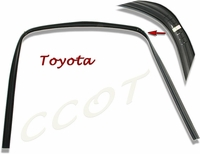 Window Channel - Black Rubber - Updated - 8/'80-10/84 - TOYOTA