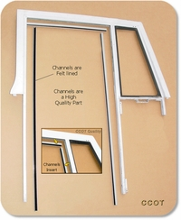 Window Channel - No Flx  - 3 Pc - '58 - '74