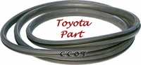 Windshield Glass Lockable  Seal, Rubber - 66 to 12/74 -TOYOTA