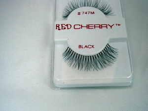 Full, wispy black lashes